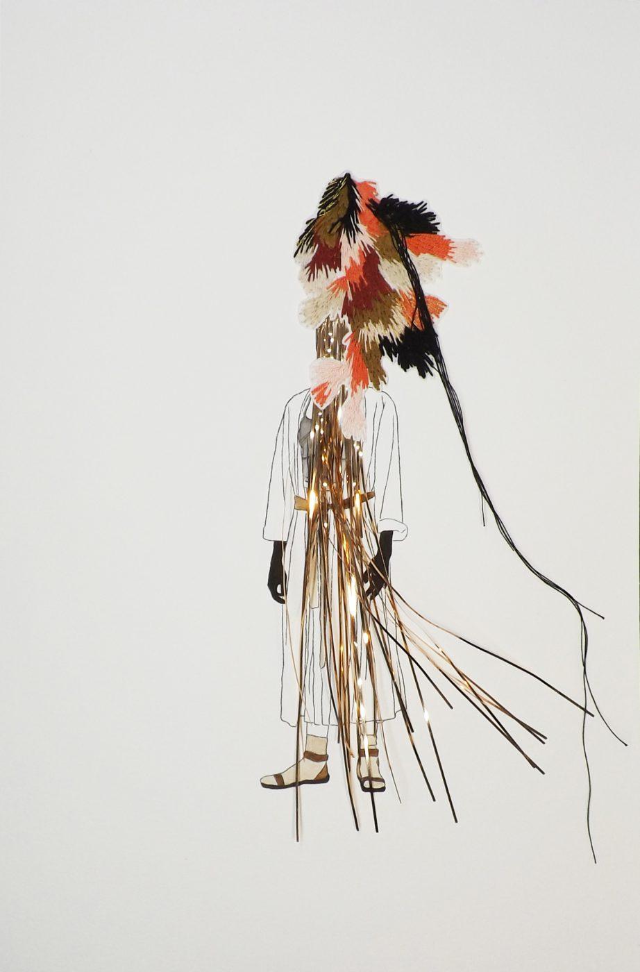 Dziady, 50x32,5cms, Técnica mixta sobre papel, 2016.
