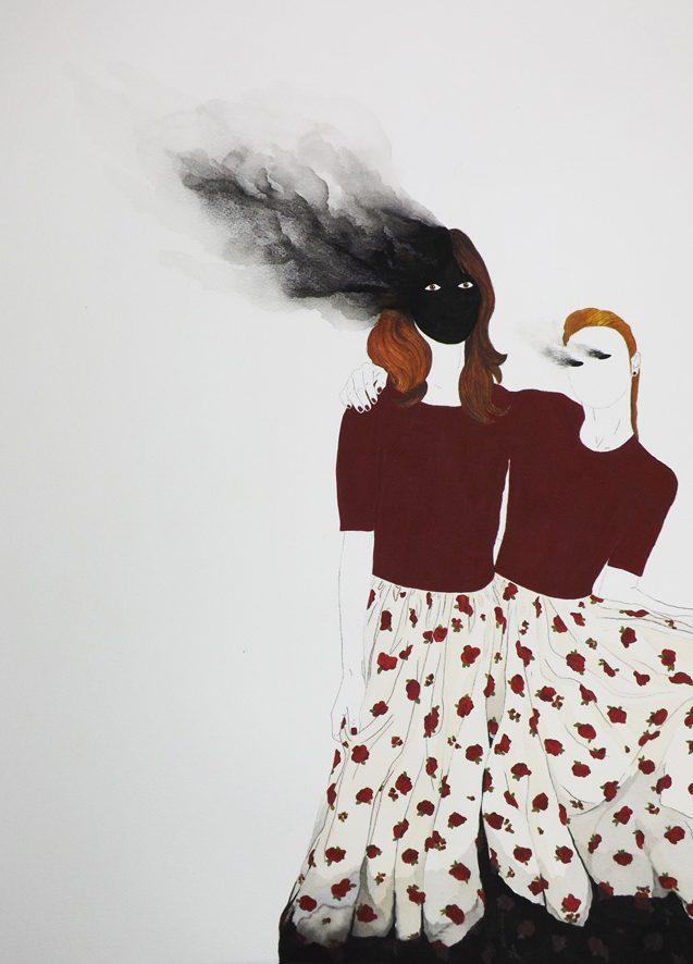 Quemadas. Acuarela y grafito sobre papel. 57x38cms. 2018.